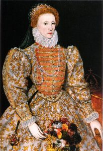 """Darnley Portrait"" of Elizabeth I of England, 1575."