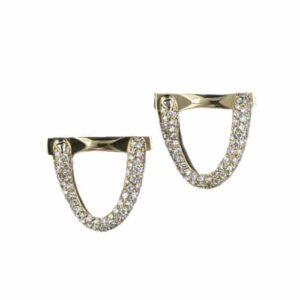 Diamond, 18K Yellow Gold Cuff Links.