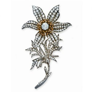 Diamond Flower Brooch Mounted En Tremblant c.1870. Image courtesy of Christie's.