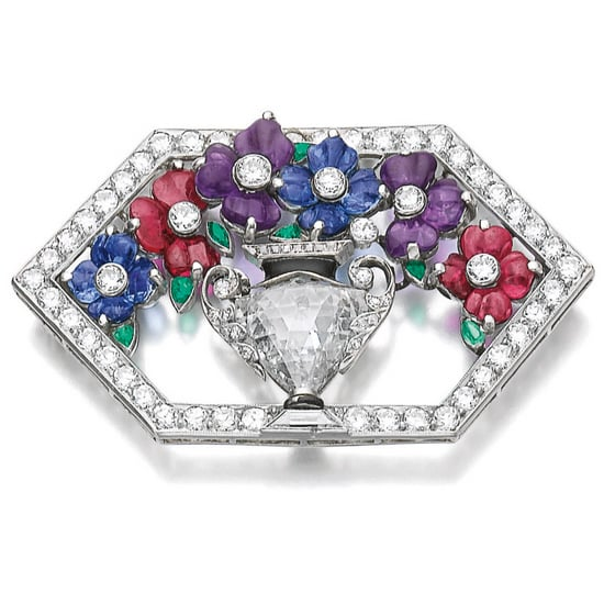Diamond and Gemstone Giardinetto Brooch.jpg