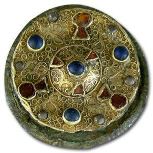 Disk Brooch, 6th Century.
