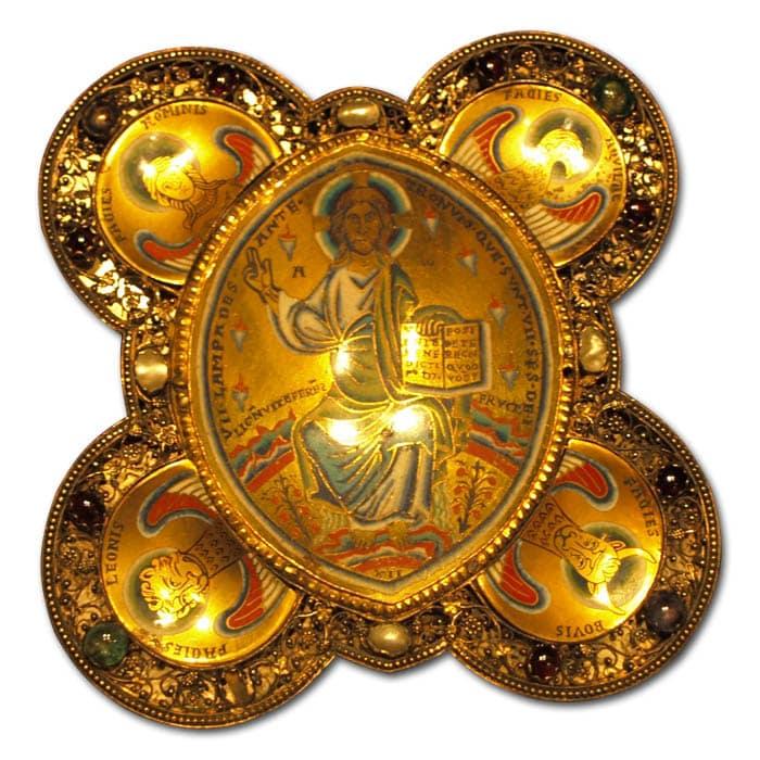 Christ is Rheno-Mosa champlevé enamel