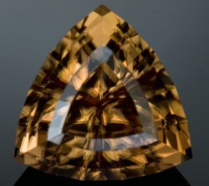 Zircon has a Very High Birefringence which is Clearly Visible in this Shot. The Back Facets Appear Doubled. Image courtesy of Jeffrey Hunt.