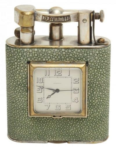 Dunhill_Shagreen_Lighter_Clock