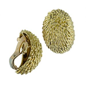 Textured Gold Earclips.