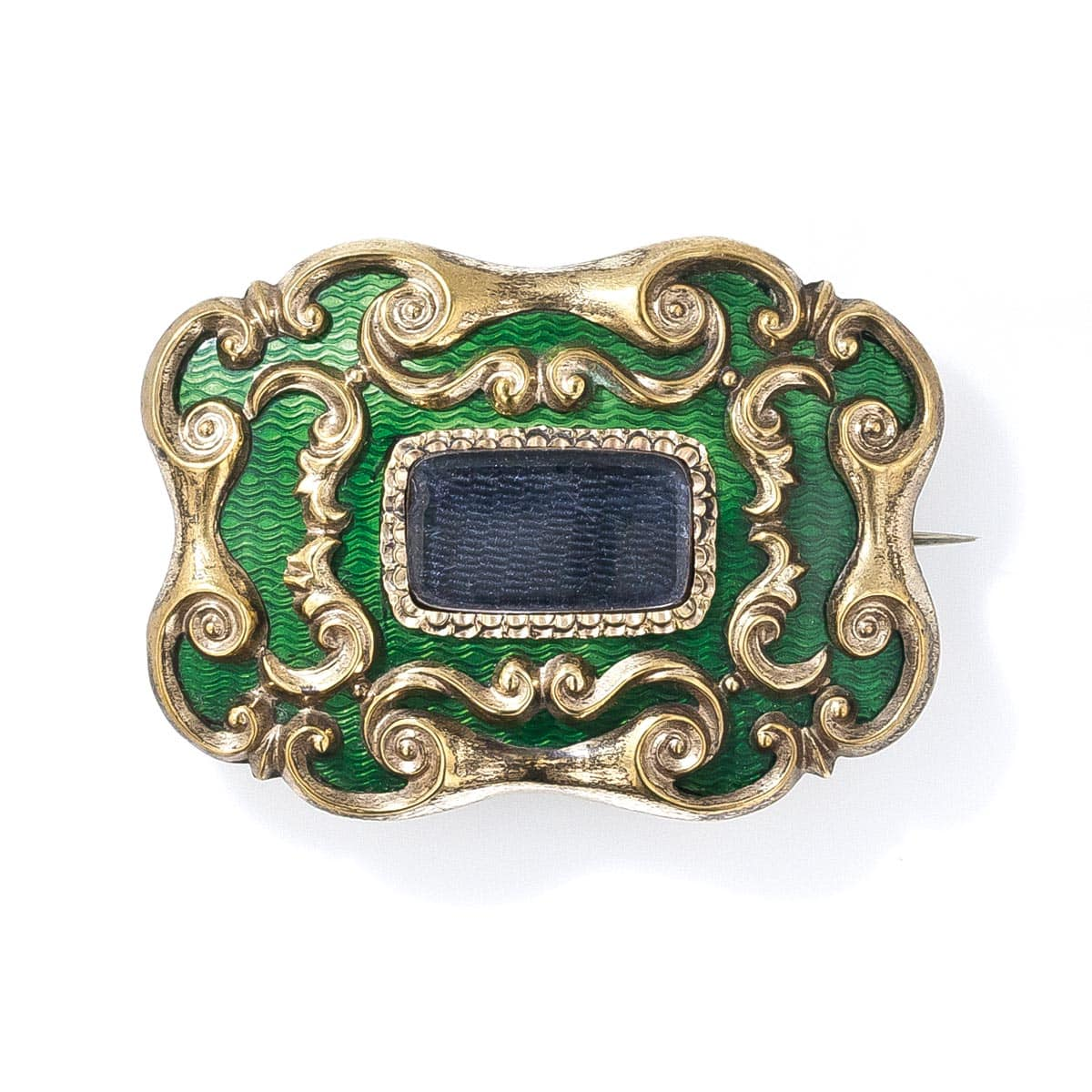 Early Victorian Enameled Memorial Brooch.jpg