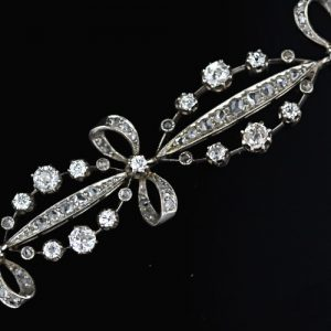Edwardian Diamond Bracelet Detail.