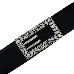 Edwardian Buckle Motif Dog Collar.