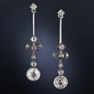 Edwardian Diamond Earrings.
