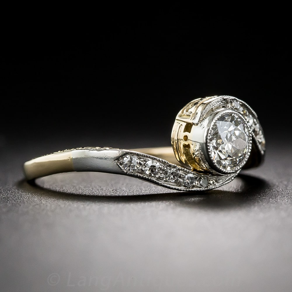 edwardian engagement style old diamond rings double cut ring twist european image from
