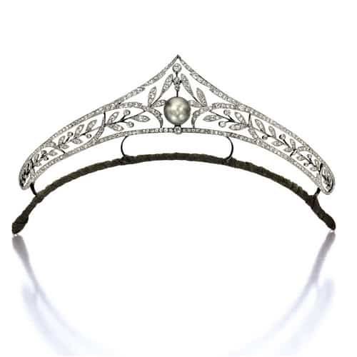 Edwardian Diamond Natural Pearl Tiara.jpg