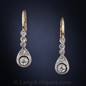Edwardian Diamond Earrings.