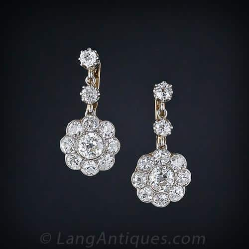 Edwardian Floral Diamond Earrings.jpg