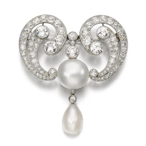 Edwardian Natural Pearl and Diamond Brooch.jpg