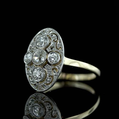and ring vintage rose series styles engagement durham rings jewellery edwardian antique