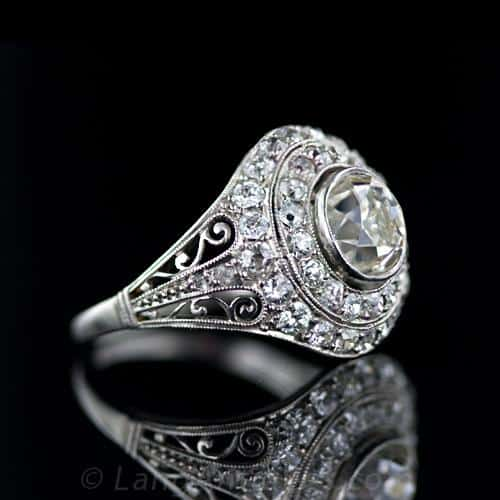 Edwardian Scrolled Diamond Engagement Ring.jpg