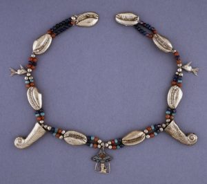 Electrum Cowrie Shell Necklace, Egypt, c.2055 BC-1650 BC