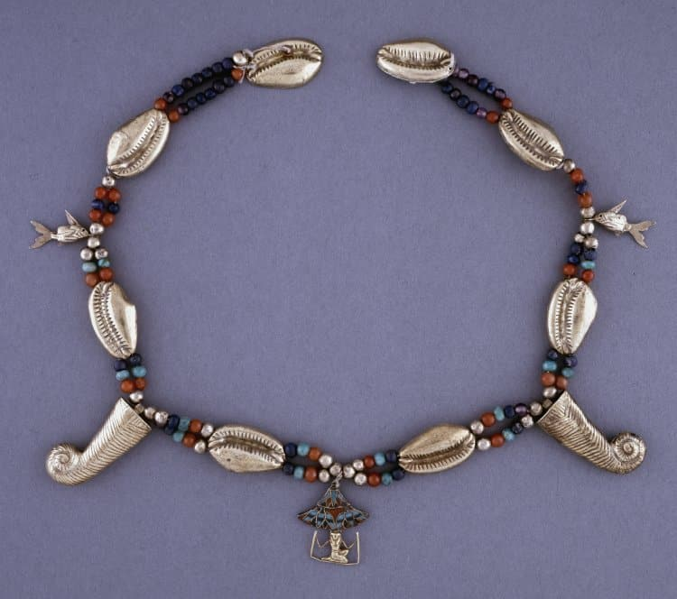 Egyptian Electrum Cowrie Shell Necklace.jpg