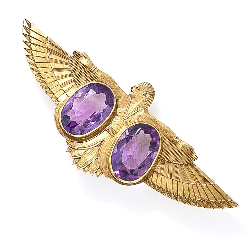 Egyptian Revival Amethyst Pin.jpg