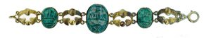 Egyptian Revival Scarab Bracelet.