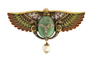 Egyptian Revival Scarab Pin c. 1925.