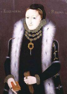 Portrait of Elizabeth I of England, 1558-1560.