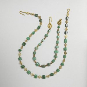 Roman Emerald and Gold Necklace c.2nd-3rd Century.