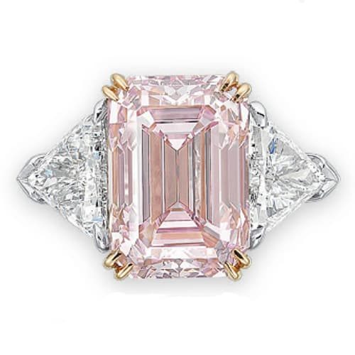 Emerald Cut Pink Diamond Engagement Ring.jpg