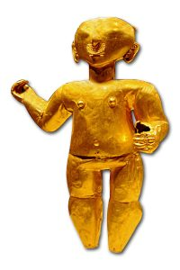 3D figure made of sheet gold. 1st century BC Ecuador.
