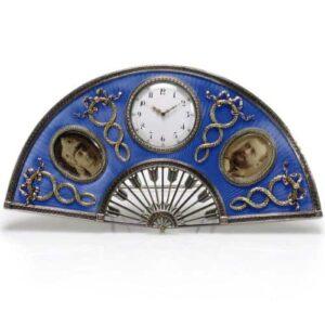 Clock designed by Peter Carl Fabergé for Nicolas and Alexandra of Russia