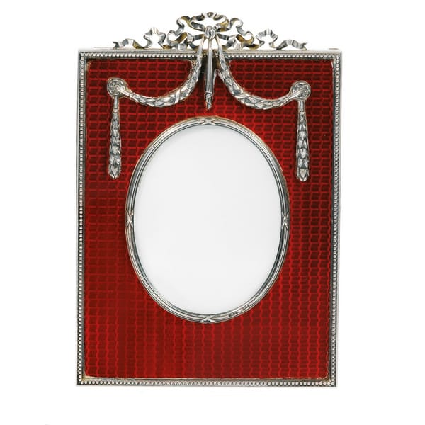 Faberge Silver and Red Enamel Frame.jpg