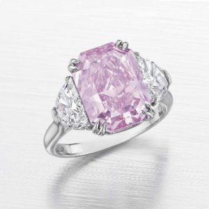 Fancy Intense Purplish Pink Natural Color Diamond. Photo Courtesy of Christie's.