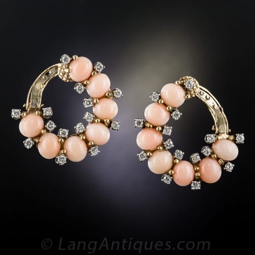 Fifties Coral Diamond Earrings.jpg