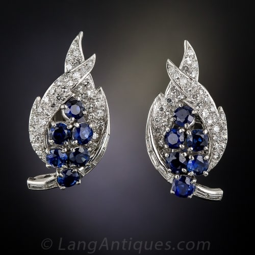 Fifties Sapphire Diamond Earrings 1.jpg