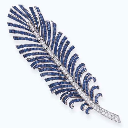 Flato_Articulated_Sapphire_Diamond_Brooch