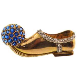 Flato Shoe Clip Brooch, c.1940.