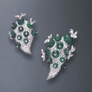 "Pair of Flato ""Cactus"" Clip Brooches Photo Courtesy of Christie's."