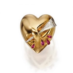 Flato Puffy Heart Ring, c.1940s. Photo Courtesy of Sotheby's.