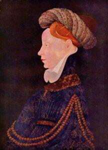 Porträt einer Dame by Franko-flämischer Meister c.1410.