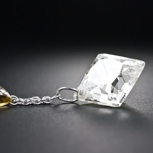6.79 Carat French-Cut Diamond, Angeled View.