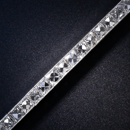 French_Cut_Diamond_Bracelet