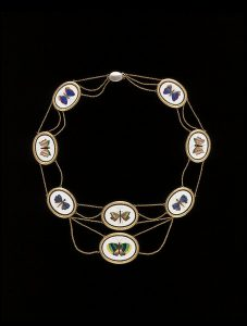 French Pietra Dura Necklace en Esclavage. c.1810.