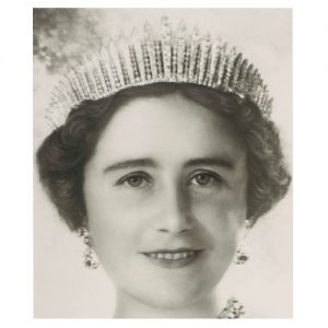 "Queen Elizabeth (Queen Mum) Wearing the ""New"" Fringe Tiara."