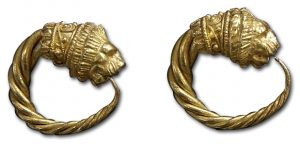 Gallo-Roman Lion Earrings