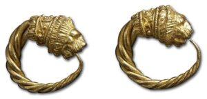 Gallo-Roman Lion Earrings