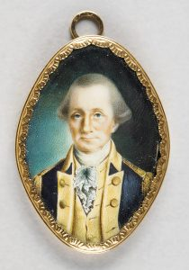 George Washington, Watercolor on Ivory c. 1789.