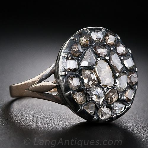 Georgian Cluster Diamond Engagement Ring.jpg