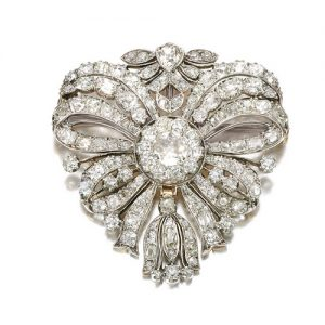 Diamond Flower Brooch c.1780-1800.