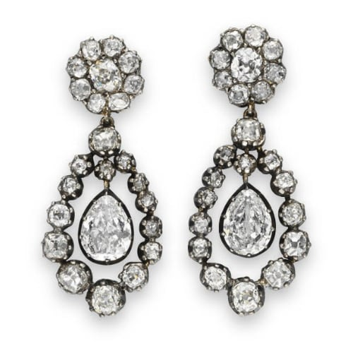 Georgian Diamond Ear Pendants.jpg