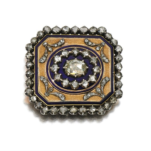 Georgian Diamond Enamel Brooch.jpg